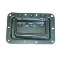 Ручка врезная подпруж. для корпуса АС BIG PT001 метал большая наружная, черного цвета