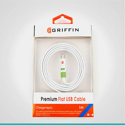 USB кабель Griffin с разъемом MicroUSB 1 м., фото 2