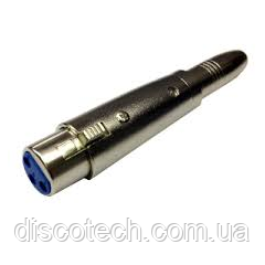 Коннектор переходник с джек 6,35 на канон мама BIG GCB004