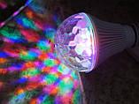 Большая светодиодная Диско-лампа LED Full Color rotating lamp, E27, фото 2