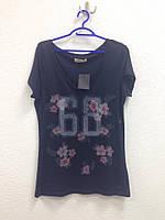 Темно-синяя футболка  Hollister