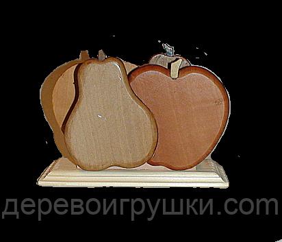 """Підставка для серветок """"груша-яблуко"""""""