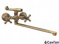 Смеситель для ванны Haiba Dominox 140 Euro Bronze