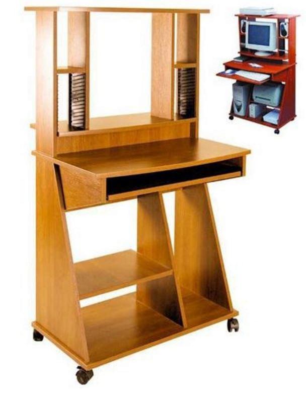 Компьютерный стол С500-550 ДСП яблоня (Высота 1400h мм). Противоударная пластиковая кромка, предохраняющая поверхности от повреждения.