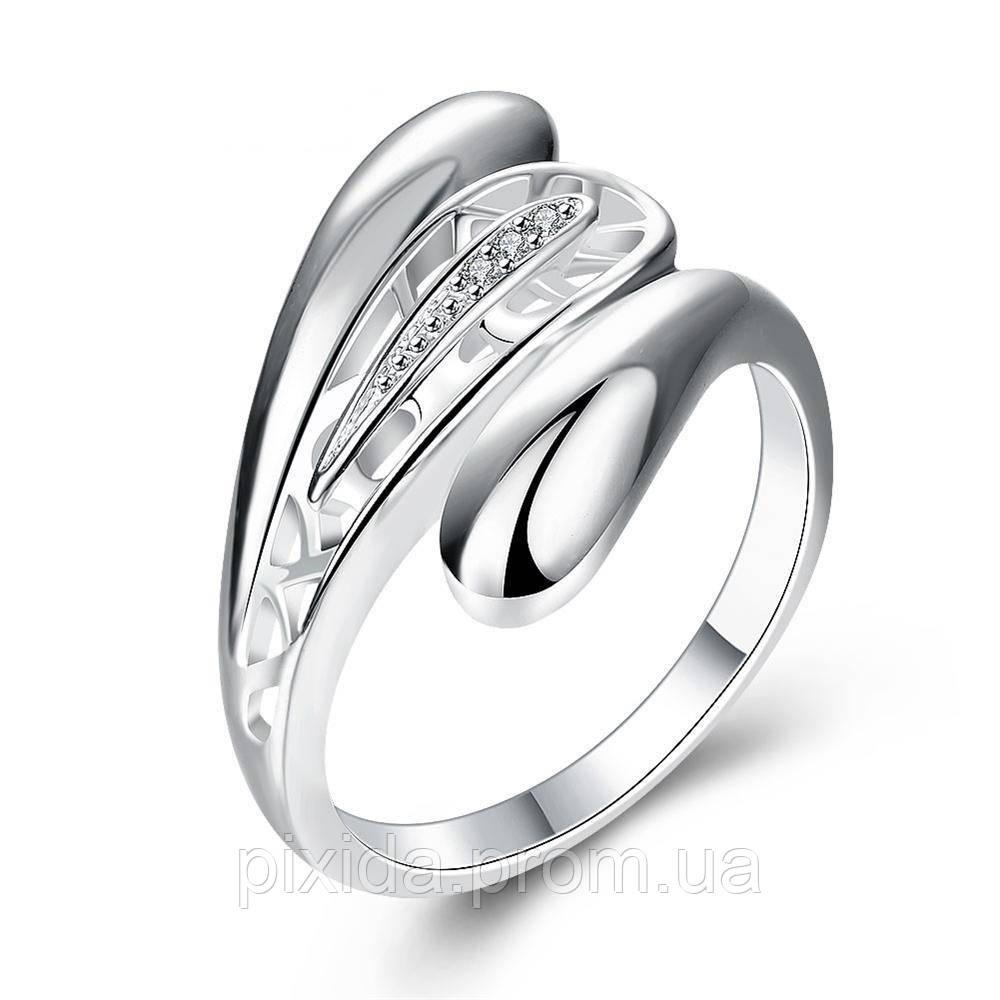 Кольцо Лепестки покрытие 925 серебро проба