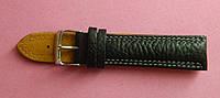 Ремешок кожаный Modeno (Испания) черный для часов 22 мм.
