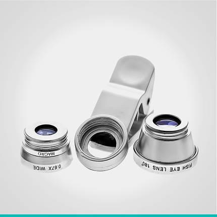 Линзы для камеры смартфона 3 в 1, фото 2