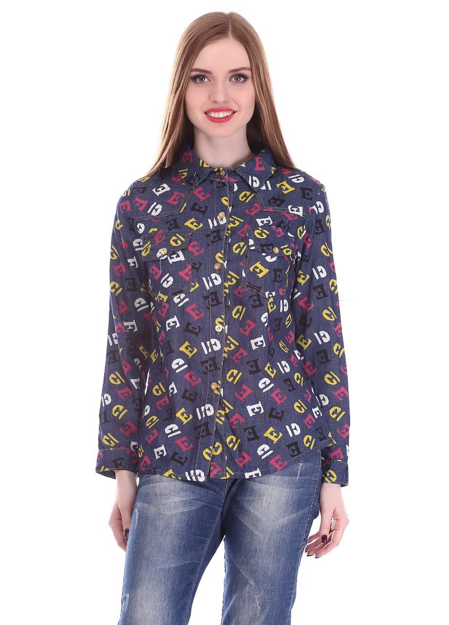 241f80cf6267349 Женская джинсовая рубашка