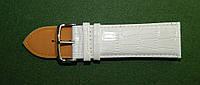 Ремешок кожаный Modeno (Испания) белый для часов 28 мм.