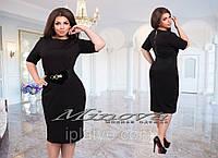 Шикарное черное платье по фигуре на спине молний  56, Черный