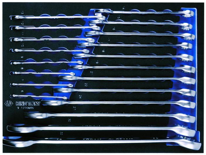 Набор  инструментов для тележки 259 пр.EVO в мягких ложементах (без тележки) KINGTONY 934-018MRVD