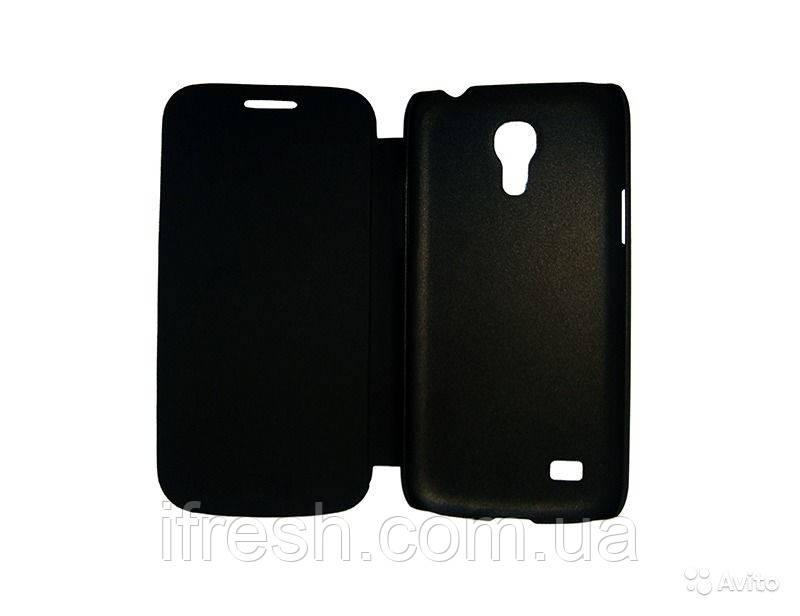Чехол книжка для Samsung S4 miniI (i9190), черная