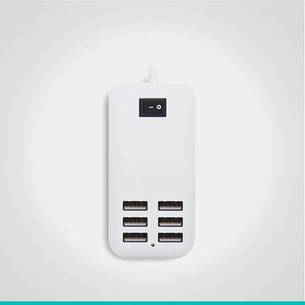 Сетевое зарядное устройство на 6USB выходов, фото 2