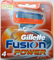 Лезвия Gillette Fusion Power, 4 Count Cartridge , фото 1