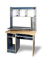 Компьютерный стол с тумбочками, СКМ-2, 95*65, ольха синяя+ ольха темная
