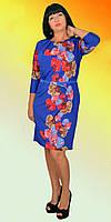 Синие платье с красивые орхидеи