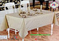 Скатерть прямоугольная с салфетками AYD Aysigi 160х220 см
