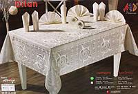 Скатерть прямоугольная с салфетками AYD Dilan 160х220 см