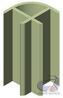 Профиль уголовой 90, алюм. Н=2440мм для экономпанелей и экспопанелей