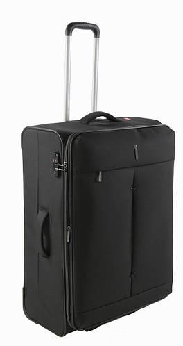 2-колесный вместительный чемодан-гигант тканевый 103/113 л. Roncato IRONIC 5101/01 черный