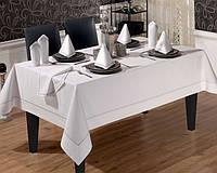Скатерть прямоугольная Tabe Collection Swan Beyaz (160х220 см)