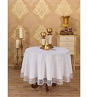 Скатерть круглая Tabe Collection KDK Beyaz (160 см)