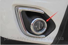 Mitsubishi Outlander Sport 2013-15 хромовые накладки на туманки новые