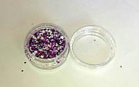 """Блеск для дизайна ногтей """"Фиолетовый"""""""