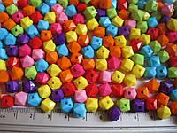 Бусина Куб 0,8 см. 10 грамм (примерно 40 шт) микс