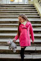 Пальто детское малиновое KL/-050