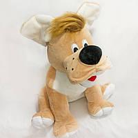 Мягкая игрушка Собака Тузик большая коричневая