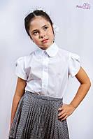 Блузочка белая  с коротким рукавом