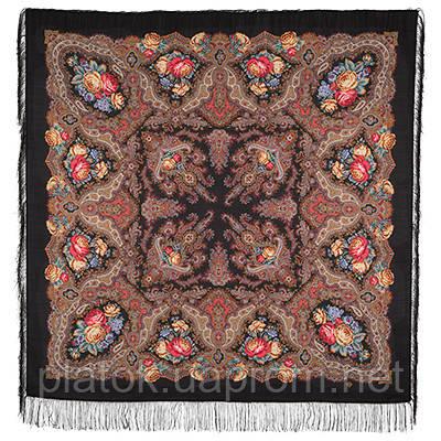 Испанское вино 1171-19, павлопосадский платок шерстяной  с шелковой бахромой