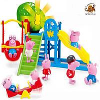 Свинка Пеппа и ее друзья на детской площалке - игровой набор