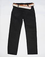 Детские качественные брюки для мальчика с поясом