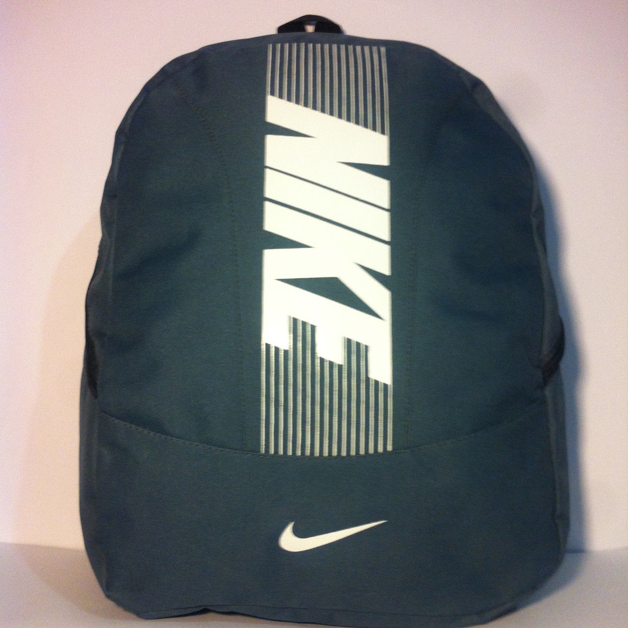 Рюкзак спортивный большой Nike, Найк зеленый с белым ( код: IBR046GO )