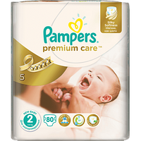 Подгузники Pampers Premium Care Mini 2 (3-6 кг) 80 шт