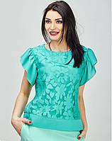 Женская блузка в расцветках с рукавом-воланом