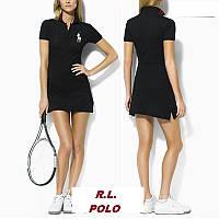 В стиле Ральф поло женское платье 100% хлопок, фото 1