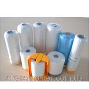 Малярная пленка с клейкой лентой (строительная), размер 1800mm x 12,5m