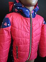 Стеганные куртки с бантами из ткани для девочек