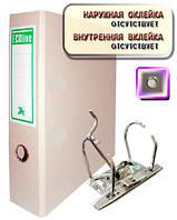 Папка-регистратор КАРТОН 80мм А4 металлический кант