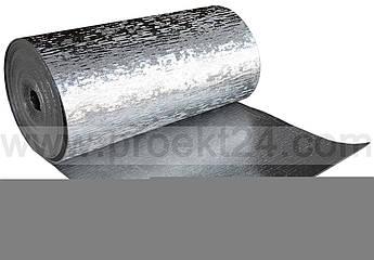 Алюфом 4мм (тип С) фольгированный самоклеющийся химически сшитый вспененный полиэтилен