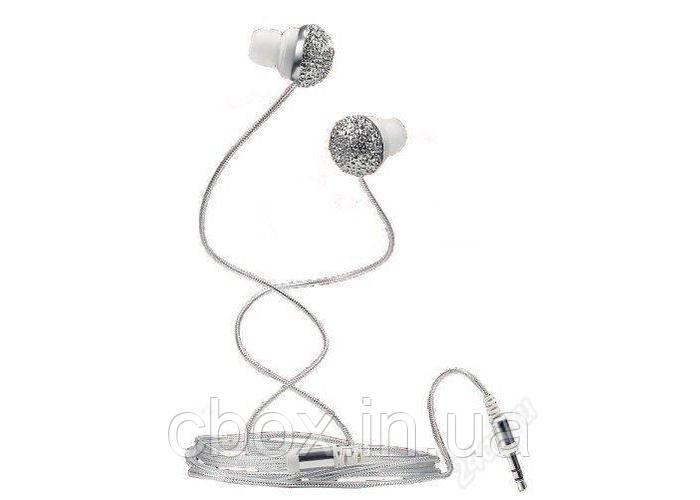 Наушники женские,украшенные стразами, earphones, 23339