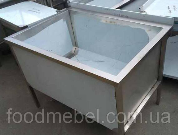 Ванна моечная удлиненная 1200х900х850 мм из нержавеющей стали