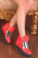 Женские модные красные сникерсы