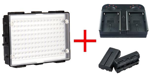 Светодиодный накамерный видео свет DOF C200 + зарядное устройство + 2 аккумулятора (C200)