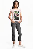 Твиловые брюки с вышивкой H&M