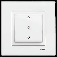 Кнопочный выключатель жалюзи 1-кл. крем ViKO Karre 90960172