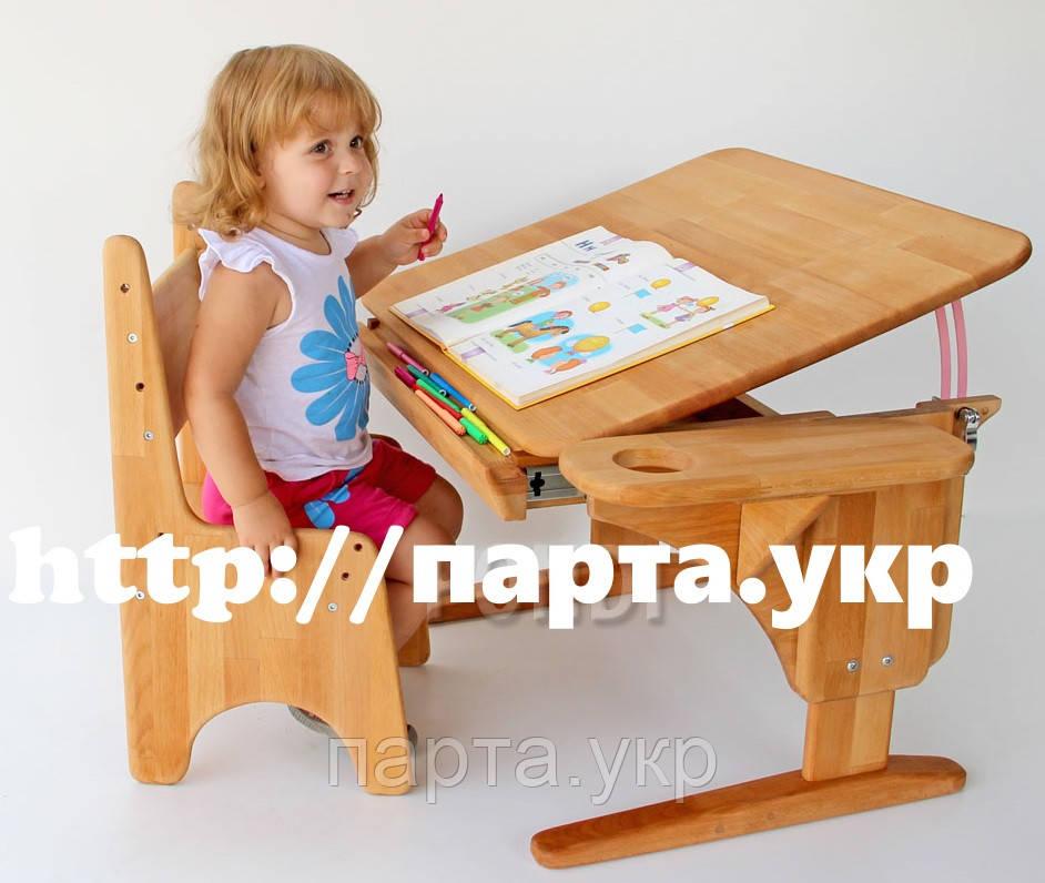 Детская парта и стул бук 70*55